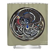 Classic Engine Orb Abstract Shower Curtain