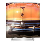 Classic Ford Car Hood Peach Shower Curtain