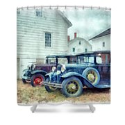 Classic Ford Model A Cars Shower Curtain