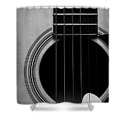 Classic Guitar In Black And White Shower Curtain