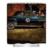 Classic Police Car Shower Curtain