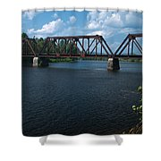 Classic Rail Bridge Shower Curtain