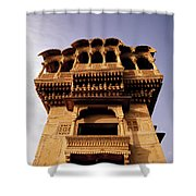 A Rajasthan Haveli Shower Curtain