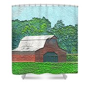 Classic Red Barn Shower Curtain