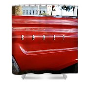 Classic Red Comet Shower Curtain