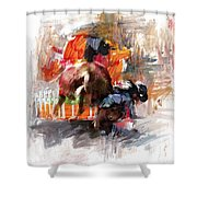 Classic Rodeo 2b Shower Curtain