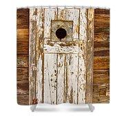 Classic Rustic Rural Worn Old Barn Door Shower Curtain
