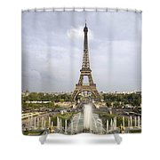 Classic View Of Paris Shower Curtain