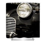 Classic Vintage Car Black And White Shower Curtain