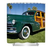 Classic Woodie Shower Curtain