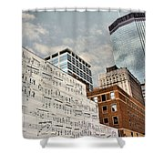 Classical Graffiti Shower Curtain by Kristin Elmquist