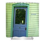 Classy Farmhouse Door Shower Curtain