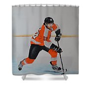 Claude Giroux Philadelphia Flyer Shower Curtain