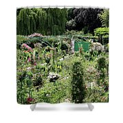 Claude Mounets Green Garden Gate Shower Curtain
