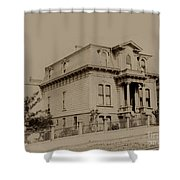 Clay And Hyde Street's San Francisco Built In 1874 Burned In The 1906 Fire Shower Curtain