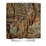 Clay Mountain Formations In Front Shower Curtain