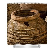 Clay Pots   #7816 Shower Curtain