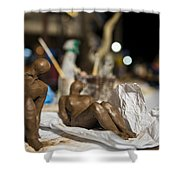 Clay Sculptured Model  Shower Curtain