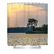Clayton Lake Shower Curtain