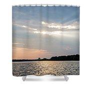 Clayton Lake Sunset Shower Curtain