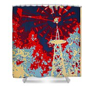 Clean Energy Poster Shower Curtain