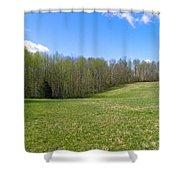 Clean Green Shower Curtain