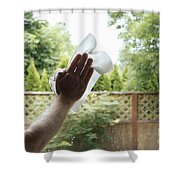 Cleaning A Window Shower Curtain