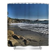 Clear At Trinidad Shower Curtain by Adam Jewell