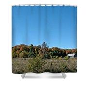 Clear Autumn Country Sky Shower Curtain