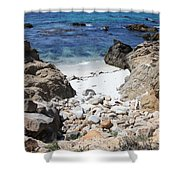 Clear California Cove Shower Curtain