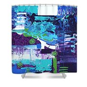 Clear Cool Water Shower Curtain