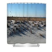 Clear Day At The Beach Shower Curtain