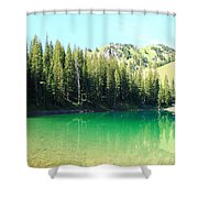 Clear Green Water Shower Curtain