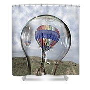 Clear Idea Shower Curtain