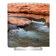 Clear Water At Slide Rock Shower Curtain by Carol Groenen