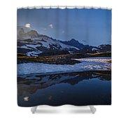 Clear Water Rainier Reflection Shower Curtain