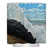 Clear Water Splash Buxton Jetty 1 6/06 Shower Curtain