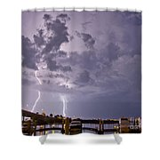 Clearater Memorial Bridge Shower Curtain