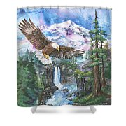 Cleared For Landing Mount Baker Shower Curtain