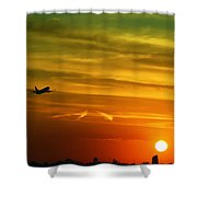 Cleared For Takeoff Shower Curtain