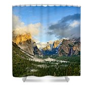 Clearing Storm - Yosemite National Park From Tunnel View. Shower Curtain