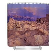 Clearing Sunrise Storm Zabriske Point Death Valley National Park California Shower Curtain