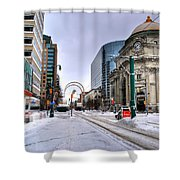 Clearing The Way...downtown Buffalo Ny 2014 Shower Curtain