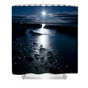 Clearville Moonrise Shower Curtain