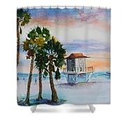 Sunset At Clearwater Beach Shower Curtain