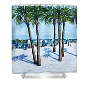 Clearwater Beach Morning Shower Curtain