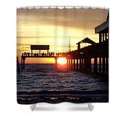 Clearwater Beach Pier Shower Curtain