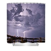 Clearwater Harbor Shower Curtain