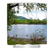 Clearwater River In Nez Perce National Historical Park-id  Shower Curtain