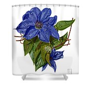 Clematis Shower Curtain